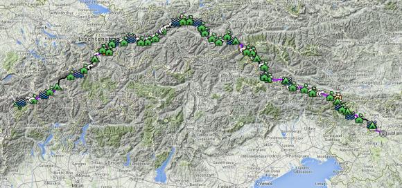 Google Maps NoBorderTrek June-July